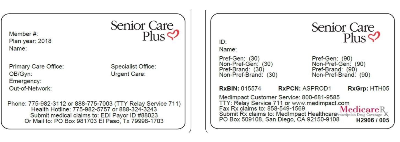 Senior Care Plus | SCP PPO ID CARD | Senior Care Plus