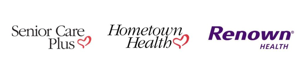 senior care plus hometown health and renown logo